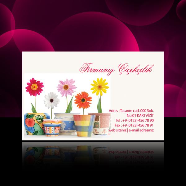 Çiçek - Peyzaj kartvizit 5