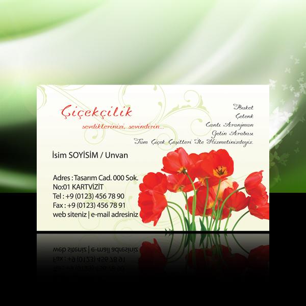 Çiçek - Peyzaj kartvizit 8