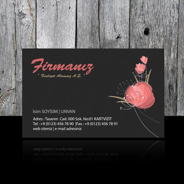 Çiçek - Peyzaj kartvizit 19