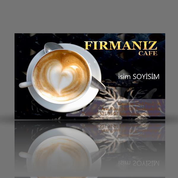 Cafe Kartvizit Kalpli Fincan