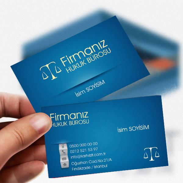 Mavi Desenli Avukat kartvizit