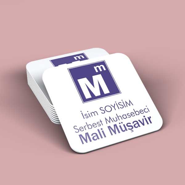 Muhasebe Logolu Bardak Altı tasarımı