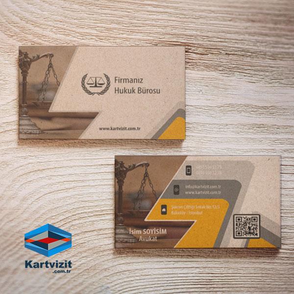 Avukat Kraft Kartvizit Tasarımı Sekmeler