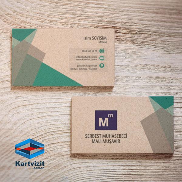 Kraft Yeşil SMMM Kartvizit