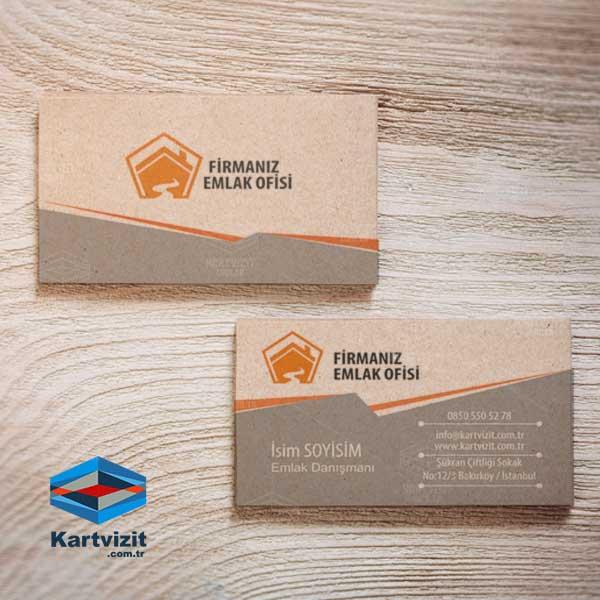 Kraft Doğal Tasarım Şeffaf Kartvizit
