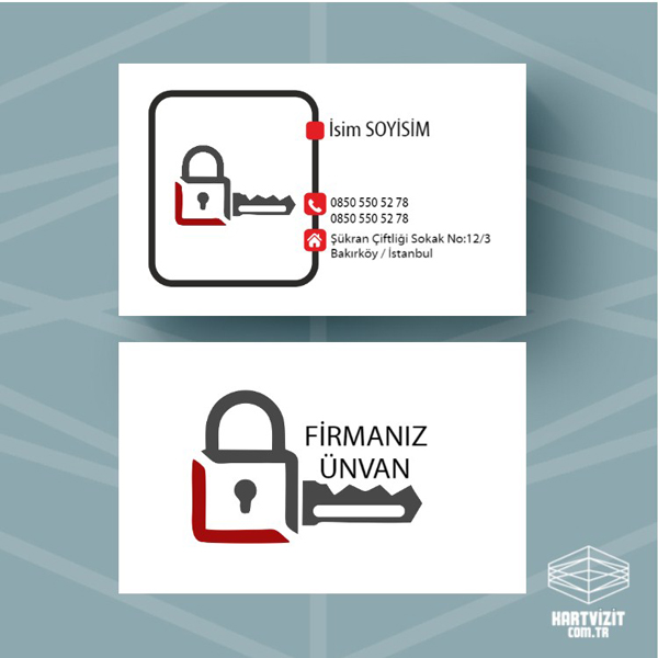 Anahtar kilit kartvizit 2