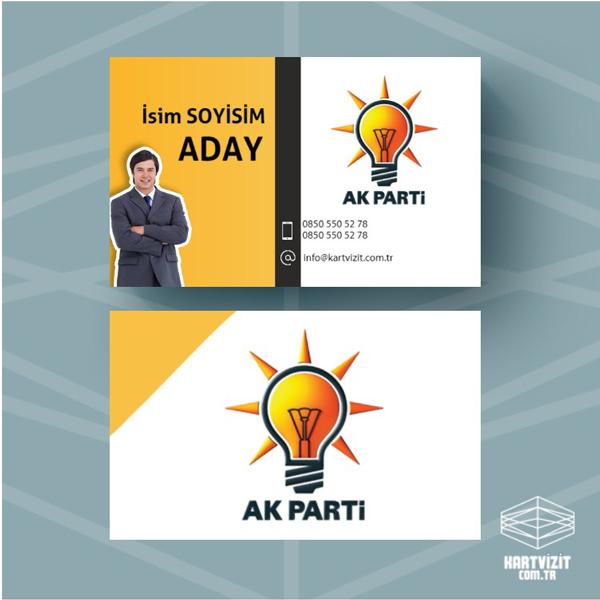 Siyasi Parti kartvizit AKP-2