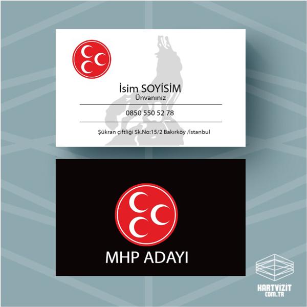 Siyasi Parti kartvizit MHP-4