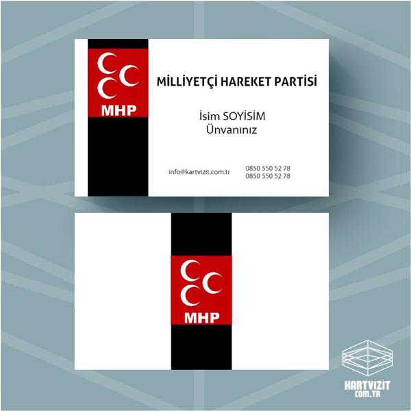 Siyasi Parti kartvizit MHP-2