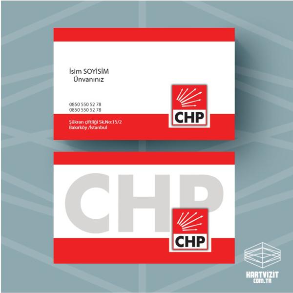 Siyasi Parti kartvizit CHP-4