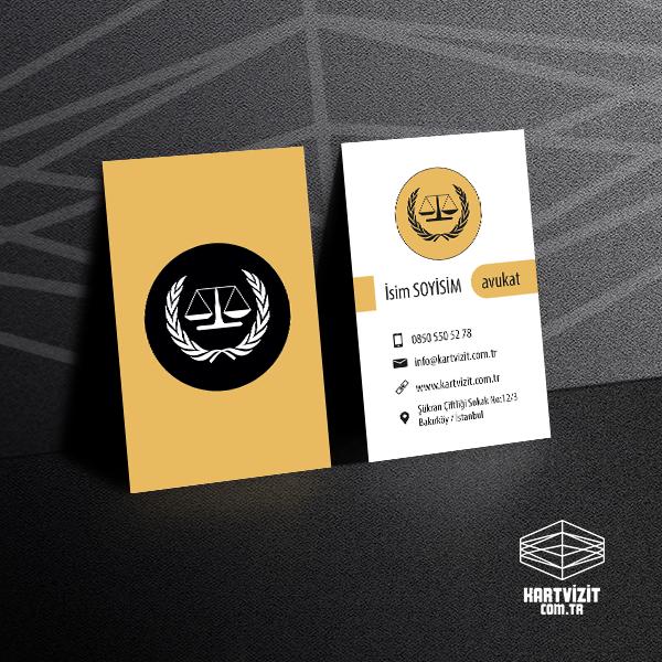 Avukat Kartvizit Siyah Krem