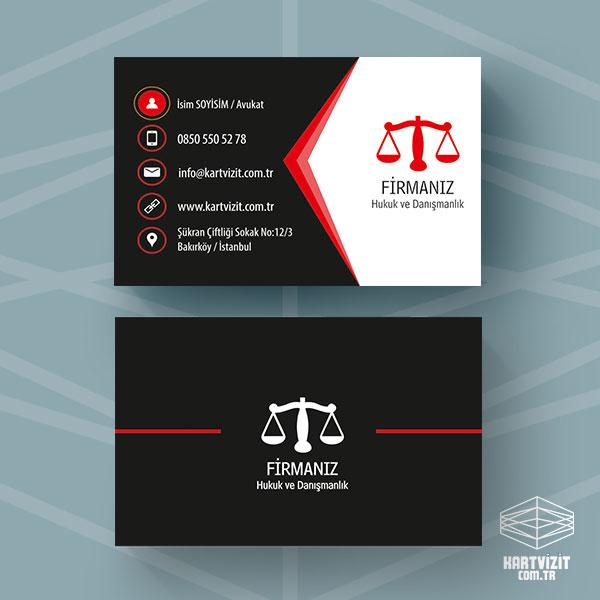 Avukat Krımızı ok kartvizit Tasarımı