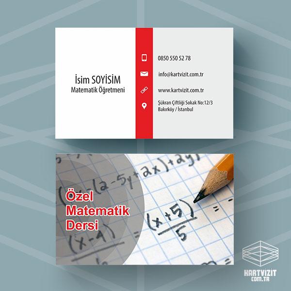 Özel Matematik Dersi Kartvizit