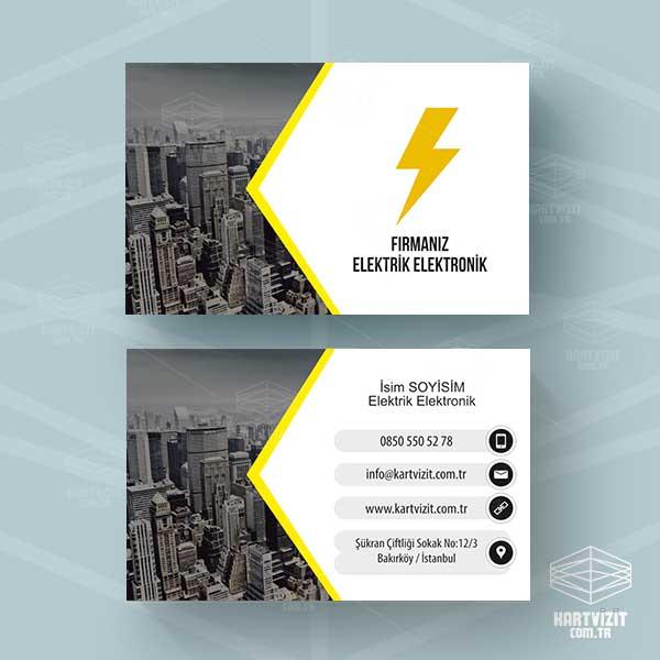 Elektrik Kartvizit Sarı Şehir