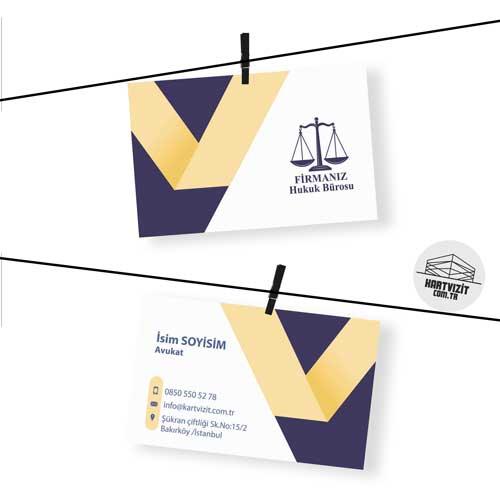 Kartvizit Avukat Gold Çizgi