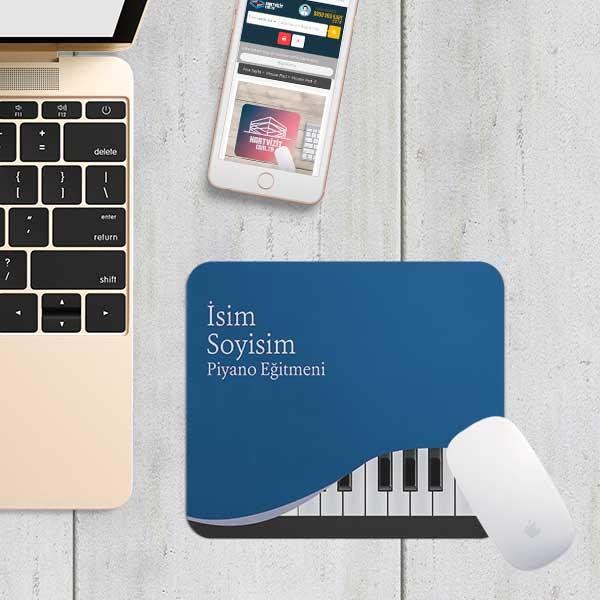 Piyano Mavi Zemin