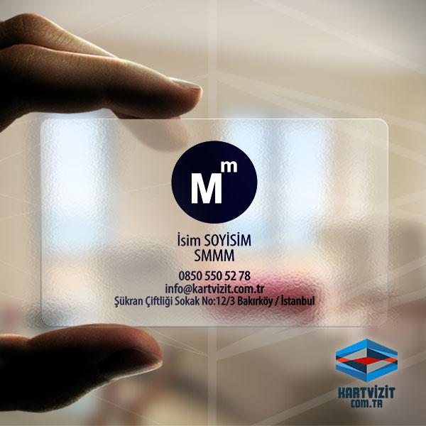Yuvarlak SMMM Logolu Kartvizit