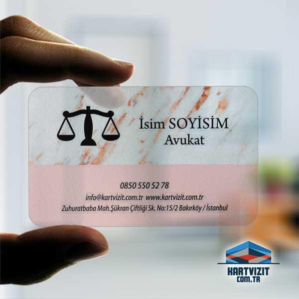 Modern hukuk Şeffaf Kartvizit