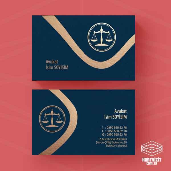 Avukat Yaldızlı Kartvizit - Dalgalar