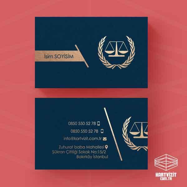 Taç logo altın yaldız kartvizit