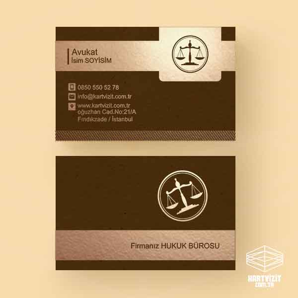 Hukuk Bürosu Lüx Kartvizit