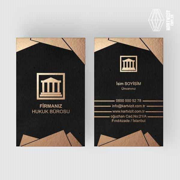 Hukuk Bürosu Üçgenler Kartvizit