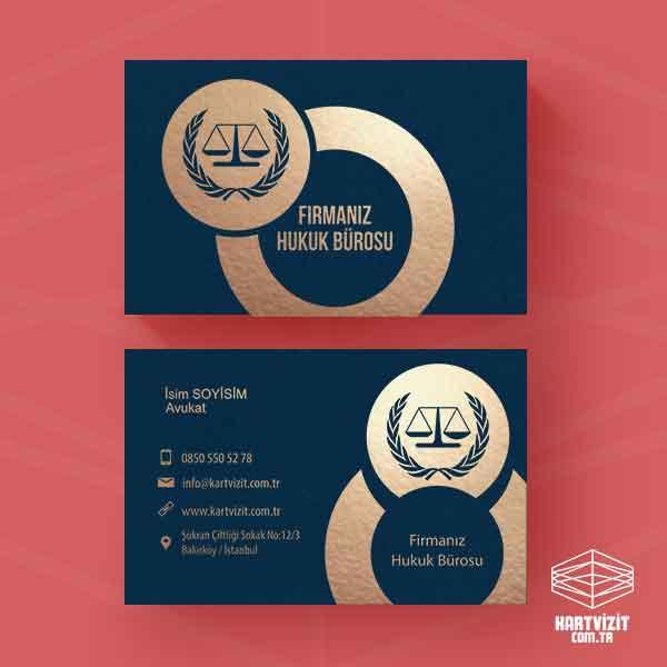 Hukuk Bürosu Kartvizit tasarımı