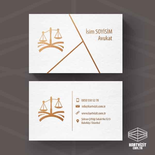 Avukat Yaldızlı Kartvizit Üçgenler