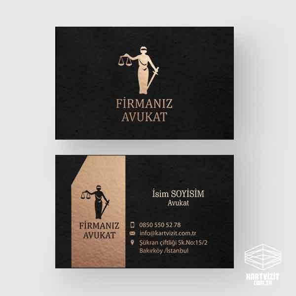 Altın Yaldız kartvizit Avukat Çizim