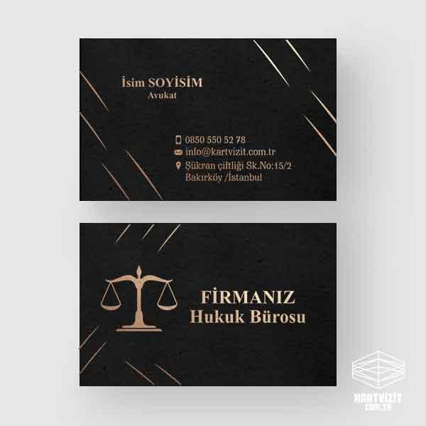 Avukat Kartvizit Altın Yaldız